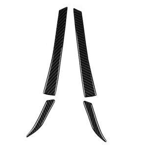 Aramox Décoration de rétroviseur, 4pcs garniture de voiture décoration en fibre de carbone rétroviseur garniture de couverture autocollants décoration