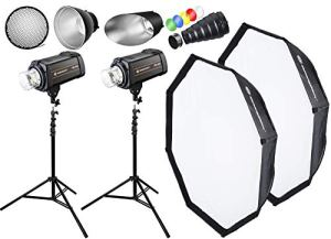 BRESSER kit Flash Studio: 2X FM-400 + Forfait Action 1