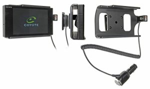 Brodit 512657 Support Voiture Coyote Nav avec Chargeur Allume Cigare avec Rotule orientable.