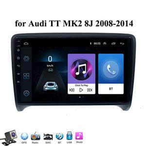 Buladala Android 8.1 9 Pouces Stereo Multimedia GPS Navigation pour Audi TT MK2 8J 2006-2014 avec Autoradio Soutient WLAN DVD/Bluetooth Main Libre/Commande Au Volant,4g+WiFi: 2+32gb