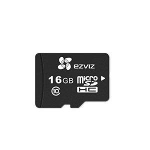 EZVIZ Carte SD Micro, Convient Parfaitement Pour les Caméras Wifi d'intérieur et d'extérieur, 16 GB, UHS-I Catégorie 10, Vitesse de Lecture 90 Mo/s, étanche et Résistante aux Chocs, Condition de Fonctionnement -25°C ~ 85ºC