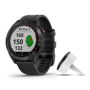 Garmin Approach S40 Montre Intelligente GPS de Golf Lot avec CT10 Black Stainless with Black Band Bundle