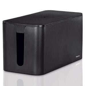 Hama Boîtier pour câbles «Mini» (boite pour câbles, 23 x 11,5 x 11,8 cm, avec pieds en caoutchouc) Noir
