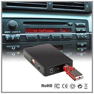 LaPower Cassette adaptatrice de changeur de CD vers AUX USB SD MP3 pour autoradio de voiture BMW Série 5E39série 7E38 Business Cassette
