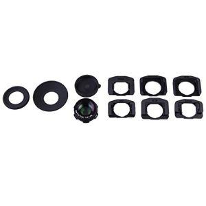 Loupe oculaire Zoom 1.08x-1.60x pour Appareil Photo Reflex numérique Canon pour Nikon Pentax Noir
