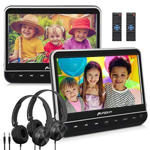 Pumpkin Double Lecteur DVD Voiture Ecrans d'Appui tête 10,1 Pouce (2 Lecteurs DVD) pour Enfant dans Voyage Supporte HDMI Input USB SD Région Libre Equipé Ecouteur avec Support de Montage