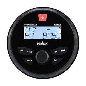 Récepteur stéréo étanche Bluetooth Marine avec Lecteur MP3 sur Radio AM/FM et USB pour Streaming de Musique sur Bateau, Golf Carts ATV UTV et Spa Hot Tubs…