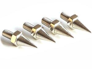 Ricable Custom SK6 Spikes – 4 pièces Pieds à Pointe Conique Absorbeur 12g M6 pour Haut-Parleur et Sub