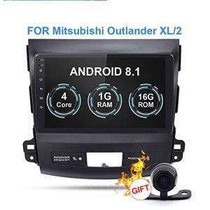 RISHENG Lecteur multimédia de Voiture DVD de Navigation avec enregistreur sur Bande sans Fil Android 8.1 Android 8.1 – pour Mitsubishi Outlander XL 2005-2014,A