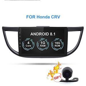 RISHENG Lecteur multimédia pour l'autoradio – 2en Android 8.1 Autoradio GPS Enregistreur Audio à Cassette – pour CR-V CRV 2012-2016,A