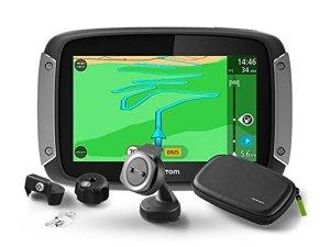 TomTom Rider 410 Fixé 4.3″ Écran tactile 280g Noir, Gris, Argent – navigateurs (Interne, 480 x 272 pixels, 16:9, Flash, MicroSD (TransFlash), Fixé)
