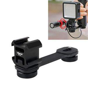 Ulanzi porte-accessoire extension Bracket pour Cardan, triple Griffe Micro pour support d'éclairage LED Video Rig Support adaptateur de plaque lisse pour Zhiyun lisse 4/Q/DJI Osmo Mobile 2/Feiyu Vimble 2Gimbal Stabilisateur