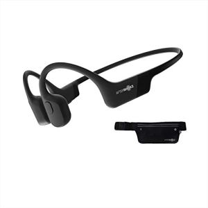 AfterShokz Aeropex, Casque à Conduction Osseuse Écouteur Sport sans Fil,Oreille Ouverte Design, Bluetooth 5.0, IP67 Étanche,Noir Cosmique