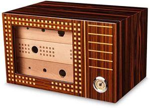 Boîte à cigares – cigare en bois de cèdre humidor grande capacité à trois couches boîte à cigares fumer le cigare humidificateur humidificateur de boîte à cigaresc RVTYR (Color : A)