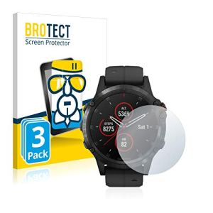 brotect Protection Ecran Verre Compatible avec Garmin Fenix 5 Plus (47 mm) (3 Pièces) Film Protecteur Vitre 9H Anti-Rayures, AirGlass