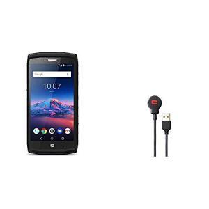 Crosscall Trekker-X4 Smartphone débloqué 4G (Ecran : 5,5 Pouces – 64 Go – Nano-SIM – Android) Noir + X-Cable Câble USB magnétique 2 en 1