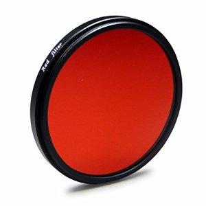 Filtre coloré rouge 67mm pour Canon EOS 40D   5D Mark III   60D   6D   7D   EOS 1D X – Nikon D5100   D5300   D7000   D7100   D90 – Olympus E-30 et plus + Chiffon de nettoyage microfibre