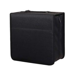 GWXJZ Etagère de Rangement pour CD CD et DVD 320 étui de Rangement pour Disque, Sac de Transport Binder Noir Disque Sac Portable, Boîtier de Rangement pour Disque de Jeu CD DVD, L30 * W14.5 * H30CM