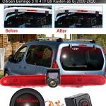 HD 1280 * 720 Pixel Voiture Troisième Lampe Frein Vue arrière Caméra de recul Vision Nocturne+4.3″ LCD Monitor pour Transporter Van Peugeot Partner 2 II Tepee Rifter Citroen Berlingo 3 III 4 IV B9