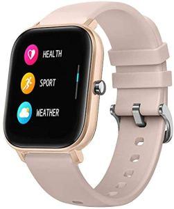 Hngyanp Montre Bluetooth à Puce P8 Sport Bracelet de fréquence Cardiaque Sommeil Pression artérielle Surveillance APP Contrôle for Sports de Plein air Modes Multi-Sports (Color : Light Pink)