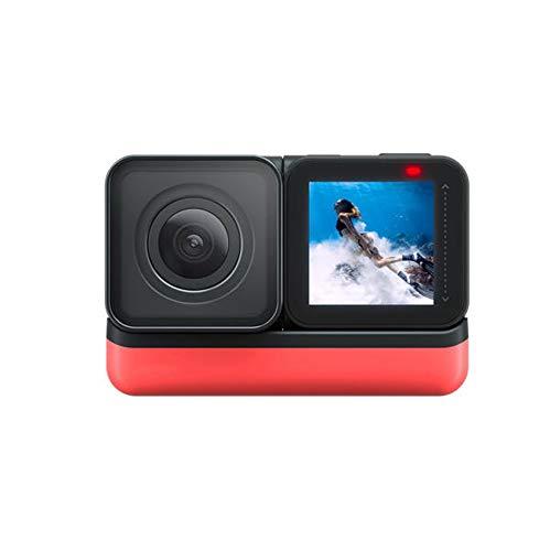Kanqingqing Caméra Sport Version Camera Sports 5.7K 360 ° panoramique IPX8 GPS étanche pour Les Sports Nautiques, comme la Natation (Color : Black, Size : One Size)