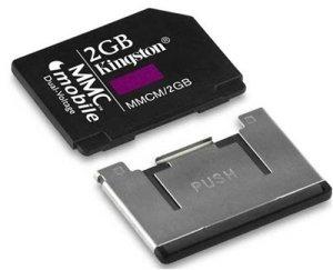 Kingston Carte Multimedia Card (MMC) Mobile Carte Mémoire Flash + Adaptateur 2 Go