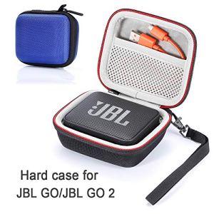 L3 Tech Étui pour JBL Go/JBL GO 2, étui de Transport Rigide pour JBL GO/JBL GO 2 Haut-Parleur Bluetooth sans Fil Portable (boîtier Seulement, Haut-Parleur et Accessoires Non Inclus) – Bleu