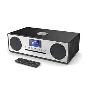 Majority Oakington Plus Radio numérique Dab/Dab+/FM – Lecteur CD – Bluetooth – Système de Haut-parleurs stéréo – Télécommande – Double entrée/Recharge USB – Port AUX et USB (Plus)