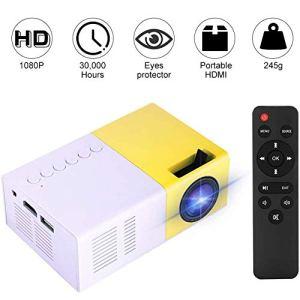 Mini projecteur, 1500 Lumens LED 1080P HD Portable Projecteur Home Cinéma Vidéo Lecteur Multimédia pour Extérieur