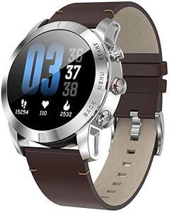 Montre Intelligente avec la fréquence Cardiaque/Sang Moniteur de Pression, Podomètre, Courir Fitness Tracker, Sport Smart Watch, 1,3 Pouces à écran Tactile, Convient pour Android iOS,B