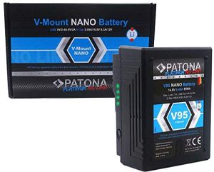 PATONA Platinum II – Nano V95 – Batterie Vmount / 95Wh / D-Tap/USB