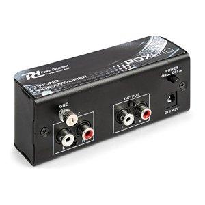 PDX010 Power Dynamics – Préamplificateur phono, Entrée et sortie RCA, Egaliseur RIAA, Boitier solide, Borne de mise à la terre