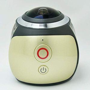 QAS 360 caméra panoramique – enregistreur de Conduite caméra sous-Marine VR – caméra numérique de Mouvement caméra – 360 Sports DV,Or,A