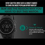 Smart Montre pour Les Hommes, LED numérique Sports de Plein air Watch, Exercice Tracker, Marcher Podomètre, imperméable à l'eau,A