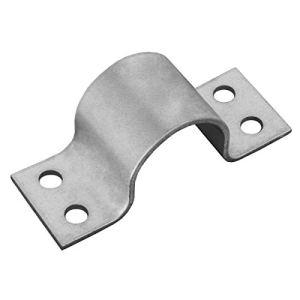 Support de mât PremiumX 42 mm 4 trous en acier galvanisé Support de mât pour tubes de mât jusqu'à 42 mm Ø tube de serrage Support d'antenne SAT Montage sur mât Accessoires de montage