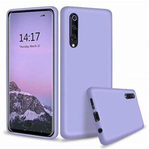 Ttimao Compatible avec Les Coque Xiaomi Mi 9 Silicone Liquide Gel Étui+1*Protecteur D'écran Anti-Choc Housse Protection avec Soft Microfiber Cloth Lining Cushion-Violet