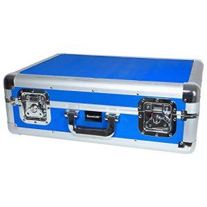 Valise de Transport/Rangement Bleu pour 150 CD avec Couvercle Amovible – SoundLab G073DB