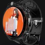 WXXJB Montre Intelligente écran caméra Multifonction Sport paiement paiement Android Bluetooth fréquence Cardiaque Appel GPS-Black-A