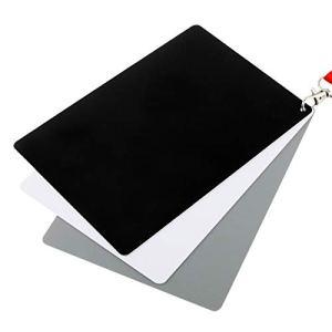 3 en 1 Blanc Noir Gris Solde de la Carte/numérique Carte Grise avec Sangle, Fonctionne avec Tout Appareil Photo numérique, Forme de fichier: RAW et JPEG, Taille: 8,7 cm x 5,5 cm Durable