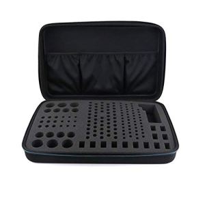 cuckoo-X Sacoche pour Organiseur de Stockage pour Batterie Dure 148 Piles AA AAA C D 9V Compatible avec Le testeur de Batterie numérique D-FantiX BT-168D