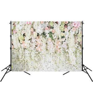 Eurobuy Décors de Photographie de Fleurs 7 X 5Ft Vinyle Photo Studio Fond Photographie Murale Toile de Fond pour Fête de Mariage Bébé Douche Fête d'anniversaire Photo Prop