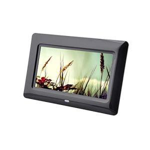 LICIDI 7 Pouces Digital Photo Frame Photo Image Diaporama électronique Lecteur Vidéo, 800 * 480 Haute Résolution et Télécommande,Black