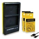 PATONA Chargeur Double + 2X Batterie NB-2L Compatible avec Canon PowerShot EOS 350D 400D Rebel XTi