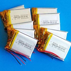 rpbll 10 pièces 3.7 V 600 mAh 503040 Batterie au Lithium polymère lipo li Rechargeable pour MP3 GPS DVD enregistreur Bluetooth Appareil Photo e-Book