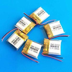 rpbll 6 pcs 3.7 v 180 mAh Lipo polymère Lithium li ION Batterie Rechargeable pour MP3 Haut-Parleur Bluetooth Casque caméra GPS 602020