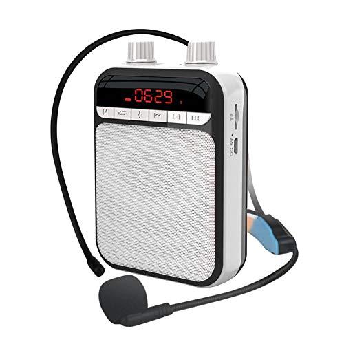 Amplificateur Voix Portable, Mini Amplificateur De Haut-parleur Portable Rechargeable De 5 Watts Avec Enregistrement, USB, Jeu De Carte TF, Idéal Pour Les Guides Touristiques, Discours, Enseignant