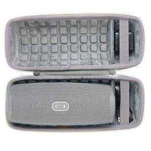 co2CREA Dur Étui de Voyage Rigide Housse Cas pour JBL Charge 4 Enceinte Bluetooth Portable(boîte Seule) (Gris)