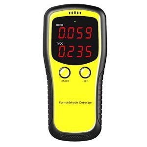 HZHHH Portable Intérieur Moniteur Qualité De L'air, LCD Dioxyde Mètre Numérique CO2 Moniteur, PM2,5 Qualité De L'air Intérieur Formaldéhyde Détecteur