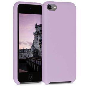 kwmobile Étui Compatible avec Apple iPod Touch 6G / 7G (6ème et 7ème génération) – Coque Protection en Silicone pour Lecteur MP3 Mauve Pastel