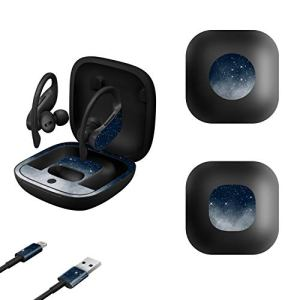 MasiBloom® Autocollant de Protection Ultra Fin en Vinyle pour Casque sans Fil Powerbeats Pro 2019